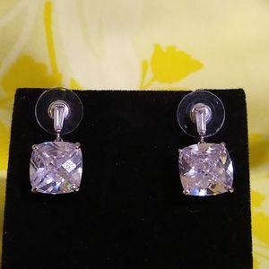 """Diamond"" Dangle Earrings"